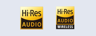 Logotipi Hi-Res Audio i Hi-Res Audio Wireless