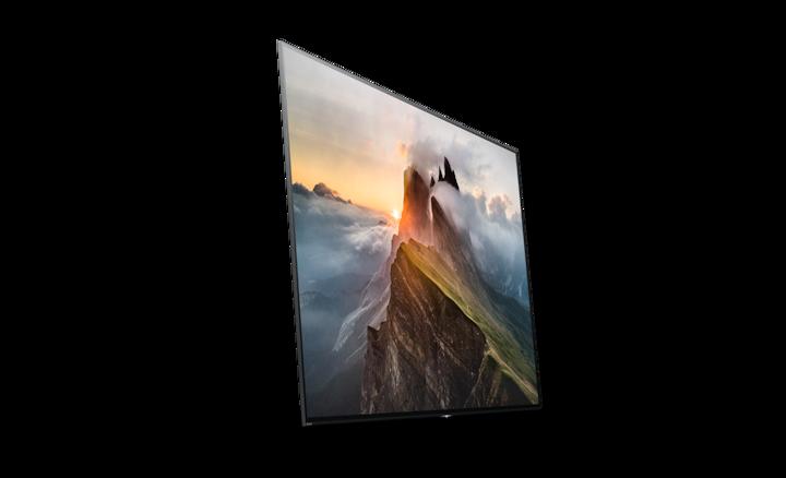 OLED TV tvrtke Sony na kojem je prikazan pejzaž planine