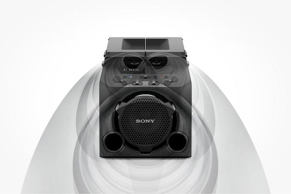 GTK-PG10 s gornjim pločama zatvorenim radi širenja zvuka prema naprijed