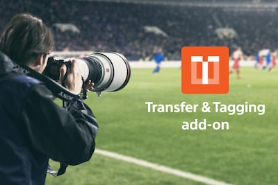 Vanjsko snimanje uz α1 i logotip dodatka Transfer & Tagging