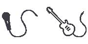 Ikone mikrofona i gitare
